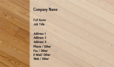 Wood Flooring Business Card Template